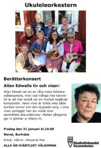 Berättarkonsert Allan Edwalls liv och visor @ Navet, Burträsk | Västerbottens län | Sverige